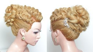 Bridal Wedding Updo. Hairstyle For Long Hair Tutorial Step By Step