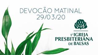 EBD 29/03/2020 - 1° IPB Balsas -