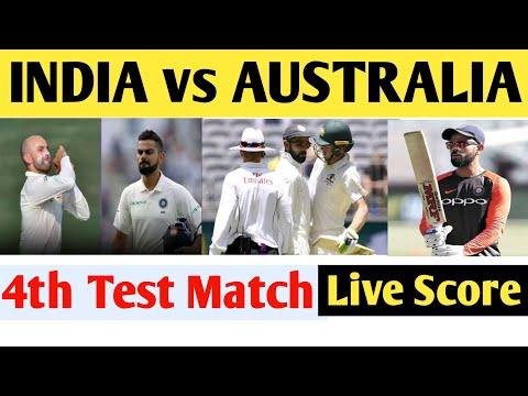India vs Australia 4th Test cricket match Sydney Live Score