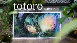 Watercolor tips-Watercolor Tutorial-Watercolor Demonstration-totoro-토토로-[zazac namoo]