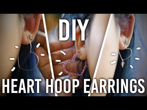 How to Make Heart Hoop Earrings : DIY : Valentine's Day Edition