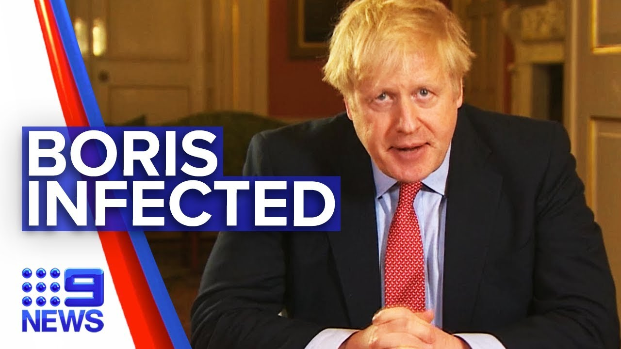 Coronavirus: Boris Johnson becomes first positive world leader | Nine News Australia