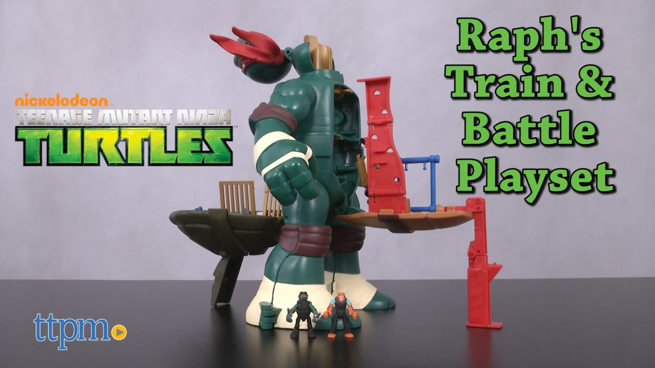 Teenage Mutant Ninja Turtles Nickelodeon Micro Mutants Raph/'s Rooftop Playset