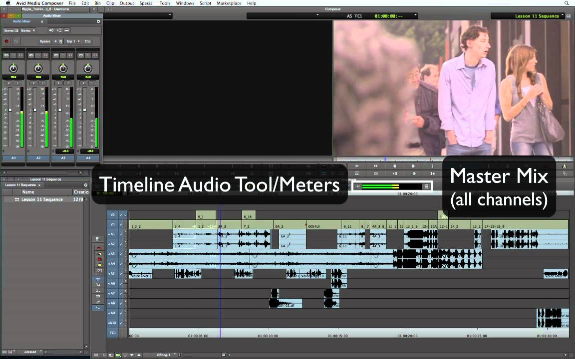 Basic editing techniques tutorial & online course media composer.