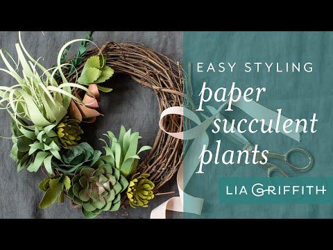 How To: Three Fun Paper Succulent Arrangement Ideas