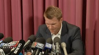 Warner sorry for ball tampering