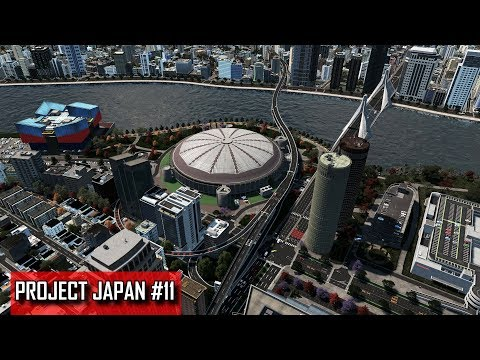 Cities: Skylines - PROJECT JAPAN #11 - Nearing 100.000 people; dome, aquarium, mall & infrastructure