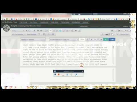 3 dakikalık f klavye testi - zabıt katipliği - icra katipliği