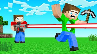 LASER GUNS vs SPEEDRUNNER in Minecraft! (Hunter)