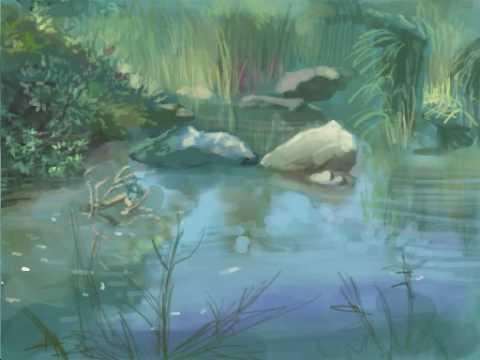 Digital Landscape Painting – Nintendo DS Colors! – Charleson Park Vancouver