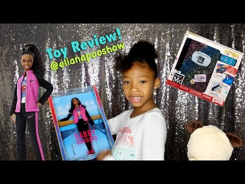 Toy review! (Gabby Douglas Barbie, Mc Project 2 Electronic Journal) Also featuring my baby brother!