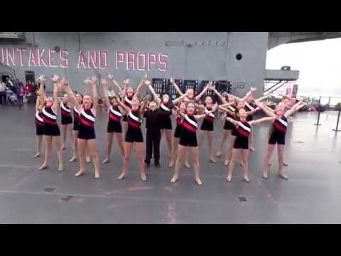 United States Acrobatic & Dance Team performing at the USS Intrepid, New York.