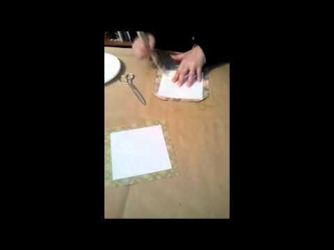 Rivestire una scatola con tessuto parte 1 2 youtube for Rivestire una scatola