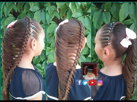 Trenza Y Ligas Y Trenza Mariposa Peinado Para Ninas Trenzas Nmba