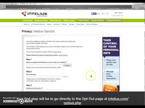 How to Delete Your Personal Information from Intelius.com – Internet Privacy