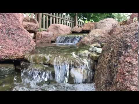 Slow-Mo Pondless Waterfall in Monroeville PA Backyard