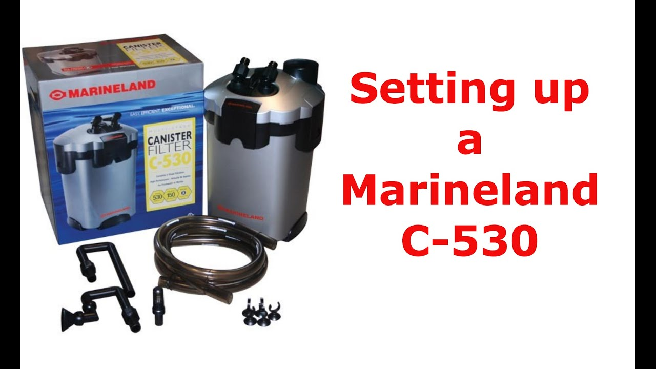 Setting up a marineland canister filter youtube for Fish tank filter not working