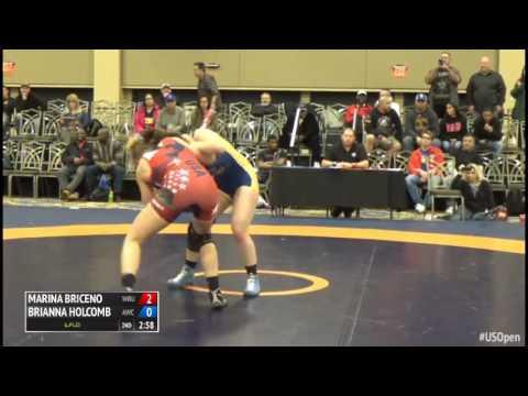 63 7th Place - Marina Briceno (Wayland Baptist University) vs. Brianna Holcomb (Aries WC)