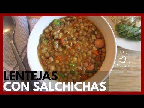 LENTEJAS CON SALCHICHAS SIN OLLA A PRESIÓN | Lentils With Sausages | Receta Rápida Y Deliciosa!