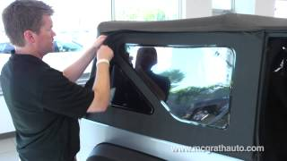 How to remove Jeep Wrangler Soft Top explained by Cedar Rapids Jeep Dealer