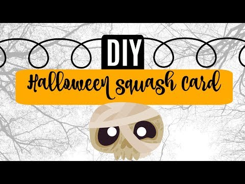 DIY Halloween Squash Card.