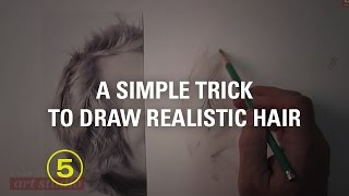 Draw Realistic Hair Without Drawing Every Hair (touchable Textures #5)
