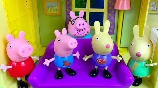 STORY WITH PEPPA PIG GEORGE AND DADDY PIG PLAY HIDE AND SEEK