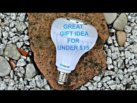 A Great Gift Idea for under $15 - Multi-colour Light Bulb with Bluetooth Speaker