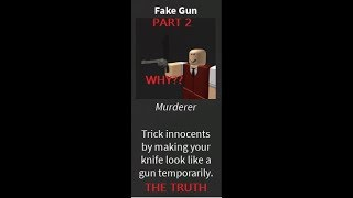 the reason WHY you should get the fake gun ROBLOX murder mystery 2