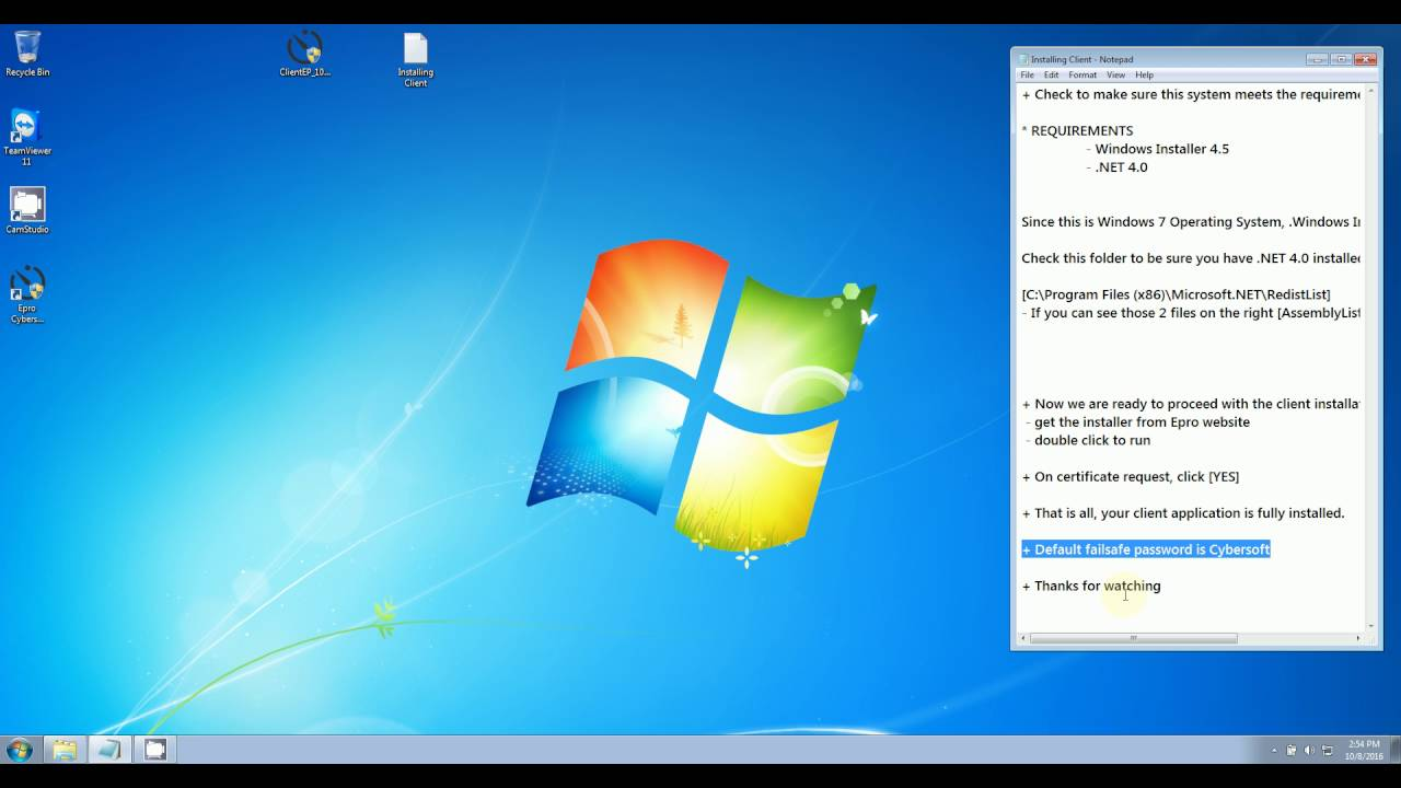 Installing Cafe Timer - Client Edition on Windows 7