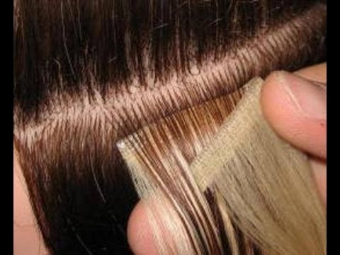 ленточное наращивание волос)))