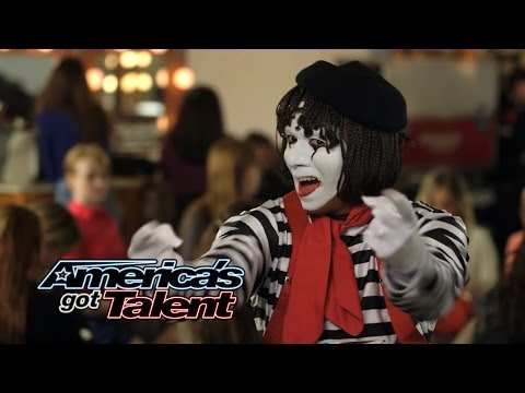 Larry The Mime: Nick Cannon Pulls Prank On Judges  America's Got Talent 2014 Highlight