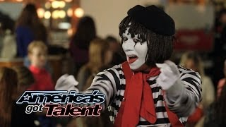 Larry The Mime: Nick Cannon Pulls Prank On Judges - America's Got Talent