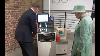 Queen asks if you can trick self-checkout machine Video