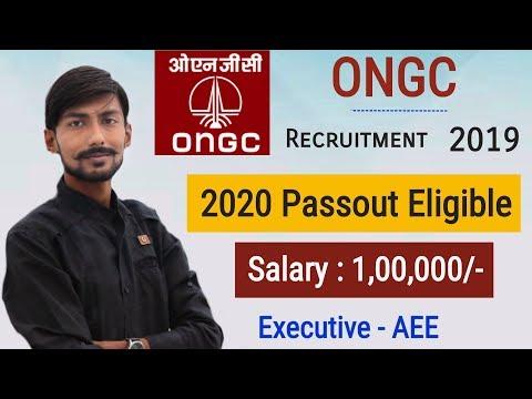 ONGC recruitment 2019 | Salary : 1,00,000 | Final Year Eligible | AEE - Executive (E-1) 🔥