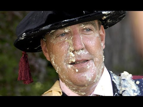 Jeremy Clarkson got a Pie in his face