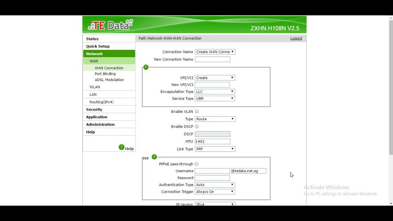 معرفة المتصلين بالواى فاى من غير برامج حجبهم Tedata Router Zxhn H108n V25