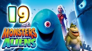 Monsters VS Aliens Walkthrough Part 19 (PS3, X360, Wii, PS2) ~ Ginormica Level 19