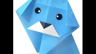 Origami dog. Оригами собака.