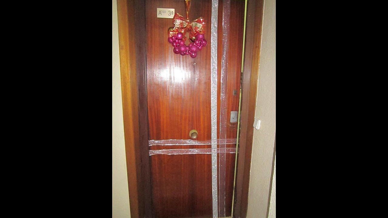 Como decorar una puerta para navidad puerta decorada - Adornar casa para navidad ...