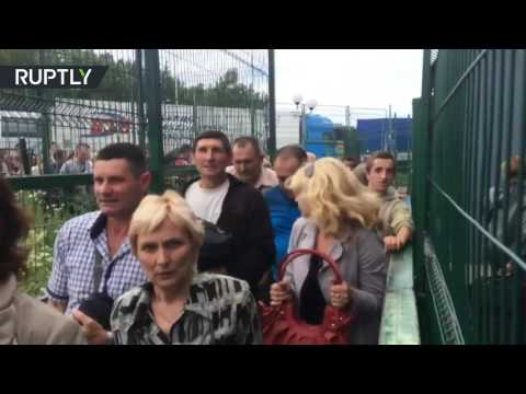 Stampede at Ukraine-Poland border as EU visa-free travel comes into force
