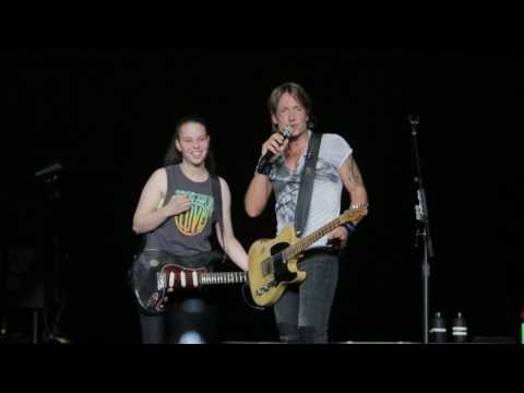 Keith Urban invites Ellen Tefanis to play...