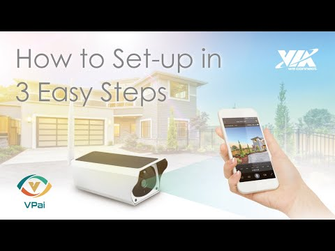 VPai Smart Security Solar IP Camera: How to Set-up in 3 EASY Steps