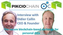 PIKCIOCHAIN Secure Blockchain for Personal Data on NEO AMA with Founder Didier Collin