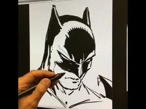 LIVE Drawing of Batman