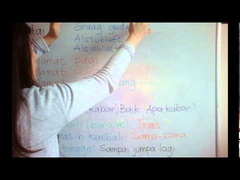 LEARN DUTCH/ NETHERLANDS & INDONESIAN LANGUAGE/ BAHASA INDONESIA [IN ENGLISH] #20 HALLO HOW ARE YOU?