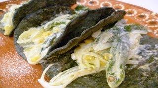 Receta para preparar rajas con crema. Rajas con crema  Comidas con crema  Antojitos mexicanos