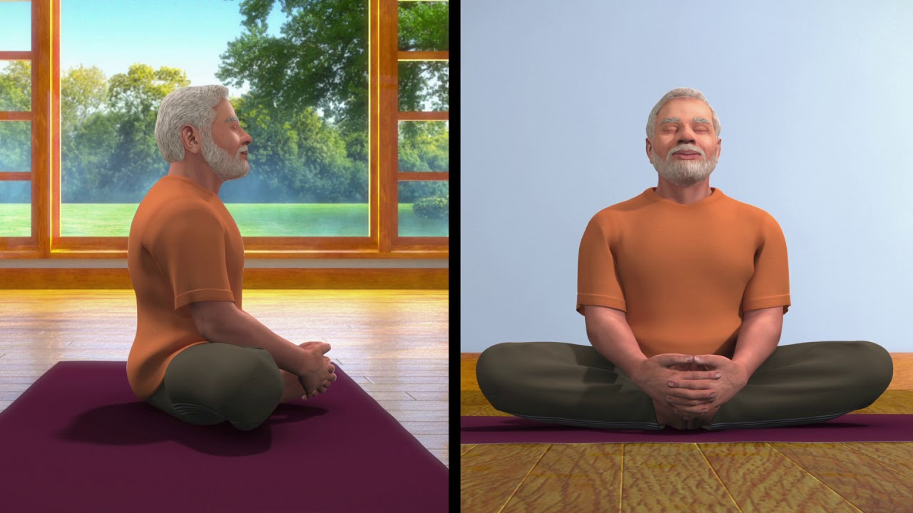 Yoga with Modi: Bhadrasan Hindi