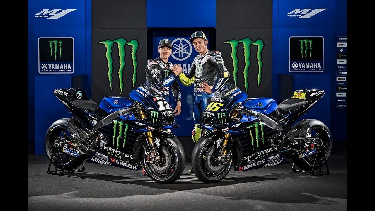 2019 Monster Energy Yamaha Motogp Yzr M1 Vr46 Mv12 Youtube