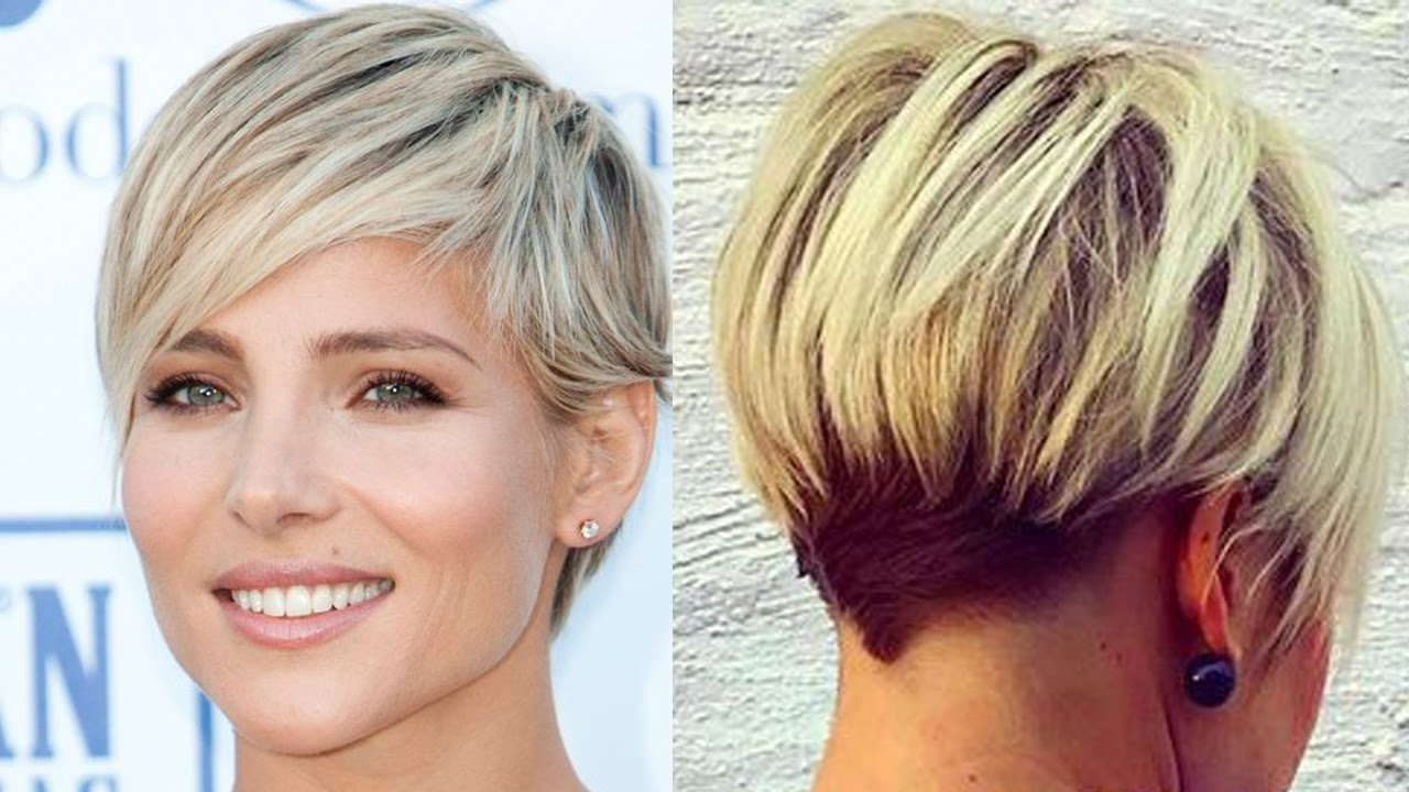 new blonde short haircuts - modern short cut (blonde hair women